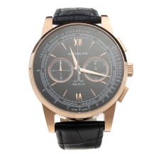Montblanc Meisterstück Working Chronograph Rose Gold Case With Black Dial-1