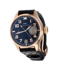 IWC Pilot Automatic Rose Gold Case With Black Dial--Hight Quality Case