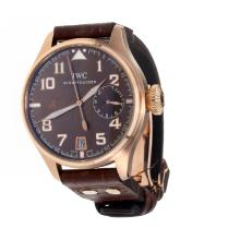 IWC Pilot Automatic Rose Gold Case With Brown Dial--Hight Quality Case