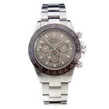 Rolex Daytona Automatic Brown Ceramic Bezel With Gray Dial S/S-Sapphire Glass