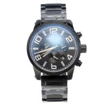 Montblanc Time Walker Automatic Full PVD with Black Dial