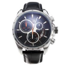 Tag Heuer Carrera Working Chronograph Black Dial With Orange Second Hand-48MM Version