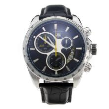 Tag Heuer Carrera Working Chronograph Black Dial With Yellow Second Hand-48MM Version