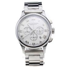 Chopard LUC Working Chronograph Roman Markings with White Dial S/S