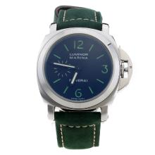 Panerai Luminor Marina Automatic Green Markings with Black Dial-Green Leather Strap