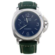 Panerai Luminor Marina Automatic White Markings with Black Dial-Green Leather Strap