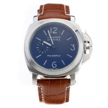 Panerai Luminor Marina Automatic White Markings with Black Dial-Brown Leather Strap