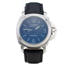 Panerai Luminor Marina Automatic White Markings with Black Dial-Black Leather Strap