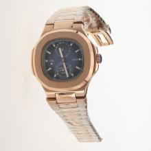Patek Philippe Nautilus Automatic Full Rose Gold with Blue Dial
