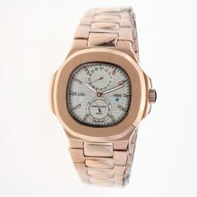 Patek Philippe Nautilus Automatic Full Rose Gold with Silver Dial