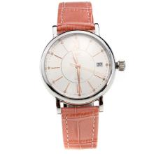IWC Portofino White Dial with Pink Leather Strap-Lady Size