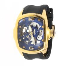 Corum Automatic Gold Case with Skeleton Dial-Rubber Strap-4