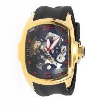 Corum Automatic Gold Case with Skeleton Dial-Rubber Strap-3