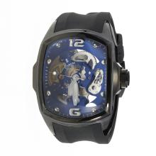 Corum Automatic PVD Case with Skeleton Dial-Rubber Strap-2