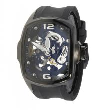 Corum Automatic PVD Case with Skeleton Dial-Rubber Strap