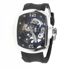 Corum Automatic with Skeleton Dial-Rubber Strap-2