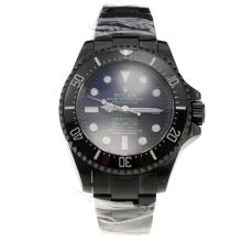 Rolex Sea-Dweller Deepsea Prohunter Swiss Cal 3135 Movement Full PVD Ceramic Bezel with Blue/Black Dial