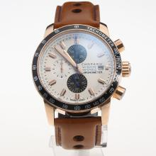 Chopard Grand Prix De Monaco Historique Working Chronograph Rose Gold Case with White Dial-Leather Strap-2