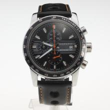 Chopard Grand Prix De Monaco Historique Working Chronograph with Black Dial-Leather Strap-1