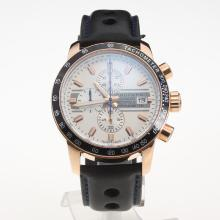 Chopard Grand Prix De Monaco Historique Working Chronograph Rose Gold Case with White Dial-Leather Strap-1