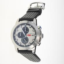 Chopard Miglia Working Chronograph with White Dial-Rubber Strap