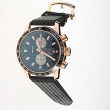 Chopard Grand Prix De Monaco Historique Working Chronograph Rose Gold Case with Black Dial-Rubber Strap-1