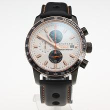 Chopard Grand Prix De Monaco Historique Working Chronograph PVD Case with White Dial-Leather Strap