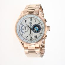 Tag Heuer Carrera BMW Power Working Chronograph Full Rose Gold with White Dial