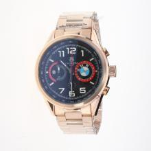 Tag Heuer Carrera BMW Power Working Chronograph Full Rose Gold with Black Dial
