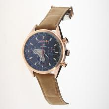 Tag Heuer Carrera RedBull Racing Edition Working Chronograph Rose Gold Case with Black Dial-Leather Strap