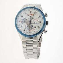 Tag Heuer Carrera RedBull Racing Edition Working Chronograph Blue Bezel with White Dial S/S