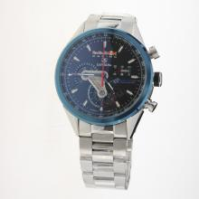 Tag Heuer Carrera RedBull Racing Edition Working Chronograph Blue Bezel with Black Dial S/S