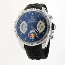 Tag Heuer Carrera RedBull Racing Edition Working Chronograph with Black Dial-Rubber Strap-1