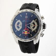 Tag Heuer Carrera RedBull Racing Edition Working Chronograph with Black Dial-Rubber Strap