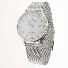IWC Portuguese Automatic Silver Markers with White Dial S/S