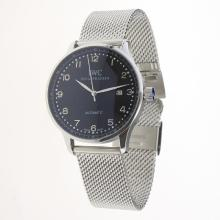 IWC Portuguese Automatic Silver Markers with Black Dial S/S