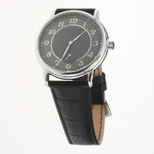 Patek Philippe Calatrava Number Markers with Gray Dial-Leather Strap