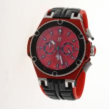 Hublot Big Bang Working Chronograph PVD Case with Red Dial-Rubber Strap