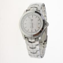 Tag Heuer Link Swiss ETA 2824 Movement with White Dial S/S