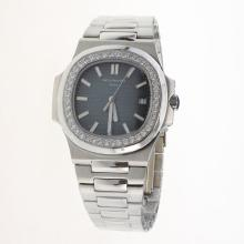 Patek Philippe Nautilus MIYOTA 9015 Automatic Movement Diamond Bezel with Blue Dial S/S