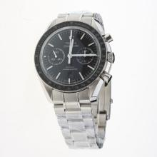 Omega Speedmaster Chronograph Swiss Valjoux 7750 Movement Ceramic Bezel with Gray Dial S/S