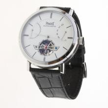 Piaget Altiplano Tourbillon Automatic with White Dial-Leather Strap