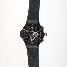 Hublot Big Bang Automatic PVD Case Ceramic Bezel with Black Dial-Rubber Strap-1
