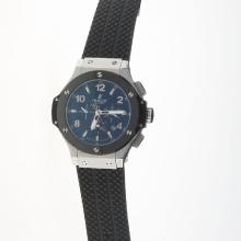 Hublot Big Bang Automatic Ceramic Bezel with Black Carbon Fibre Style Dial-Rubber Strap