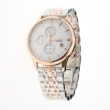 Omega Globemaster Working Chronograph Two Tone with White Dial