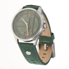 IWC Pilot Green Dial with Green Leather Strap