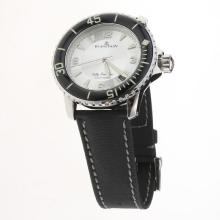 Blancpain Fifty Fathoms Automatic with Silver Dial-Nylon Strap