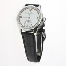IWC Portuguese Manual Winding with White Dial-Leather Strap-6