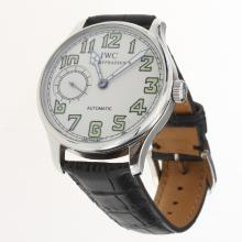 IWC Portuguese Manual Winding with White Dial-Leather Strap-2