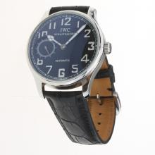 IWC Portuguese Manual Winding with Black Dial-Leather Strap-2